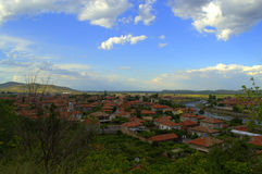 Bulgaarse dorps mooie hemel royalty-vrije stock foto's