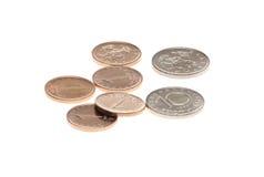 Bulgaarse geïsoleerde muntstukken Stock Foto