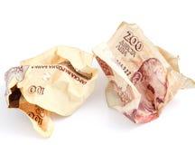 Bulgaarse geld dichte omhooggaand Ondiepe DOF Stock Foto's
