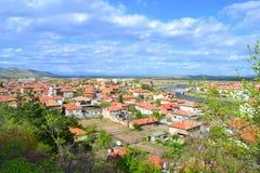 Bulgaarse kleine stads toneelmening royalty-vrije stock afbeeldingen