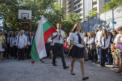 Bulgaarse studenten Varna stock fotografie
