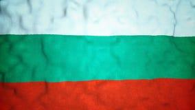 Bulgaarse Vlag Naadloze Videolijn stock footage
