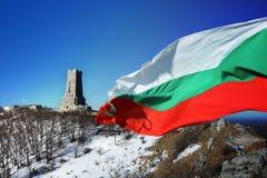 Bulgaarse vlag op Shipka Royalty-vrije Stock Afbeeldingen