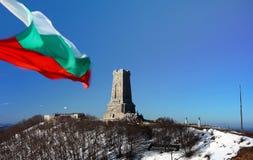 Bulgaarse vlag Shipka Royalty-vrije Stock Foto