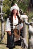 Bulgaarse vrouwenstrijder stock foto's