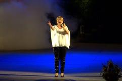 Bulgaarse zanger Margarita Hranova Royalty-vrije Stock Foto's