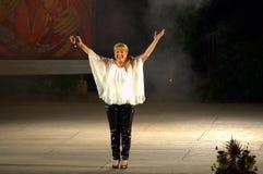 Bulgaarse zanger Margarita Hranova Royalty-vrije Stock Foto