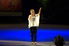 Bulgaarse zanger Margarita Hranova Royalty-vrije Stock Afbeeldingen