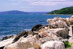 Bulgaarse Zeekust op het gebied van Albena en Balchik Stock Afbeelding