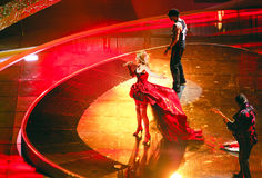 Bulgare à la chanson d'Eurovision Belgra 2008 image stock