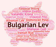 Bulgare Lev Indicates Worldwide Trading And Bgn Image libre de droits