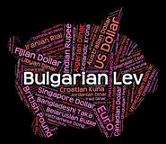 Bulgare-Lev Shows Currency Exchange And-Vermittler Lizenzfreies Stockfoto