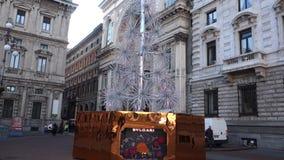 Bulgari christmas tree stock footage