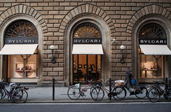 Bulgari lager i Florence Royaltyfri Fotografi
