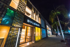 Bulgari store in Rodeo Drive. Beverly Hills, California - October 28, 2016: Bulgari store in Rodeo Drive Royalty Free Stock Photography