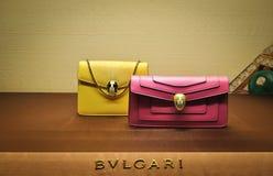 Bulgari women's small handbags Stock Photo