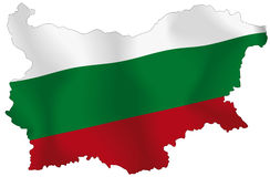 Bulgaria. Vector illustration of a map and flag from Bulgaria Stock Images