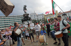 Bulgaria Anti Government Protest Royalty Free Stock Photo