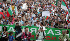 Bulgaria Anti Government Protest Stock Image