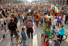 Bulgaria anti socialist government protest Royalty Free Stock Images