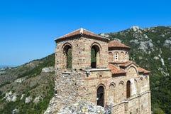 Bulgaria - Asenova Krepost. The old church and fortress - Asenova Krepost (Asenov Fortress Royalty Free Stock Photo