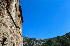 Bulgaria - Asenova Krepost. The old church and fortress - Asenova Krepost (Asenov Fortress Stock Photo