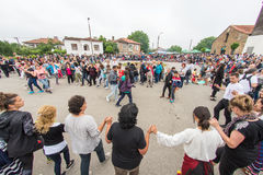 Bulgaria. Big Dance on Nestenar games in the village of Bulgarians Stock Images