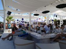 Bulgaria. Black Sea, beach bar in the resort of Sunny Beach Royalty Free Stock Photos