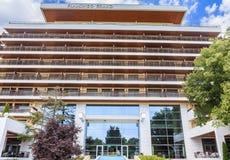 Bulgaria, Black Sea Coast,   resort Albena, fasad of Flamingo Grand Hotel Stock Images