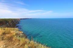 Bulgaria, Black Sea. Coastal landscape. Kaliakra headland Royalty Free Stock Photos