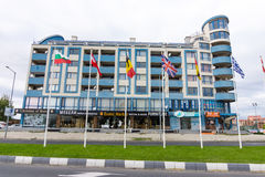 Bulgaria: blue Hotel in Sunny Beach Royalty Free Stock Image