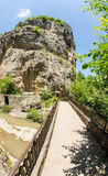 Bulgaria, Bridge across Dryanovskaya river near the cave Bacho Kiro Stock Photo