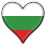 Bulgaria button flag heart shape Royalty Free Stock Photography