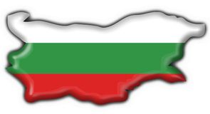 Bulgaria button flag map shape Royalty Free Stock Images