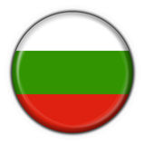 Bulgaria button flag round shape Stock Photo