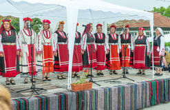Bulgaria. Concert of the National Women`s Choir at the Nestenar Games in the village of Bulgarians Stock Photography