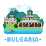 Bulgaria country design template. Flat style vecto. Bulgaria country design template. Flat cartoon style web site vector illustration. World vacation travel Stock Photos