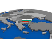 Bulgaria on 3D globe Royalty Free Stock Images