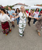 Bulgaria. Dancing Bulgarian Youth on Nestenar games in the village of Bulgarians Stock Photography