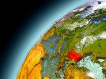 Bulgaria de la órbita de Earth modelo Fotografía de archivo