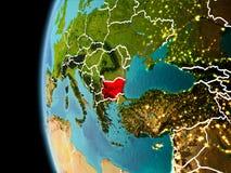 Bulgaria del espacio por la tarde fotos de archivo