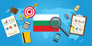 Bulgaria economy economic condition country with graph chart Royalty Free Stock Photography