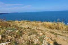 Bulgaria, el Mar Negro Paisaje costero Promontorio de Kaliakra Fotografía de archivo libre de regalías