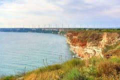 Bulgaria, el Mar Negro Paisaje costero Promontorio de Kaliakra Fotografía de archivo
