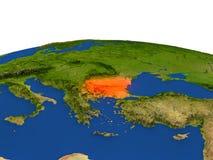 Bulgaria en rojo de la órbita libre illustration