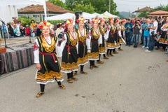 Bulgaria. Female dance ensemble on Nestenar games royalty free stock images