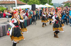 Bulgaria. Female folk dance on Nestenar games in the village of Bulgarians Royalty Free Stock Photos