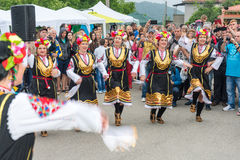 Bulgaria. Female incendiary dance at the Nestenar Games in the village of Bulgarians Stock Photos