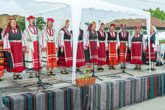 Bulgaria. Festive songs on Nestenar games in the village of Bulgarians Stock Photography
