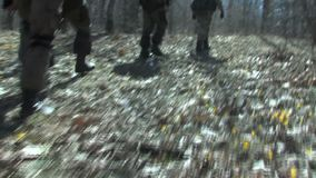 Exit Bulgarian volunteers for the protection of the state border with Turkey stock video